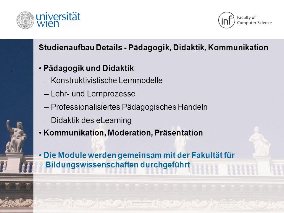 Studienaufbau Details - Fachdidaktik der Informatik Was ist Fachdidaktik.