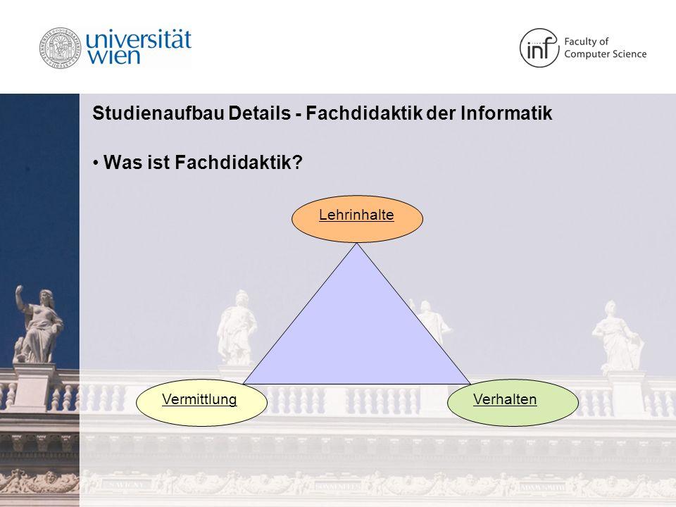 Studienaufbau Details - Fachdidaktik der Informatik Was ist informatische Bildung.