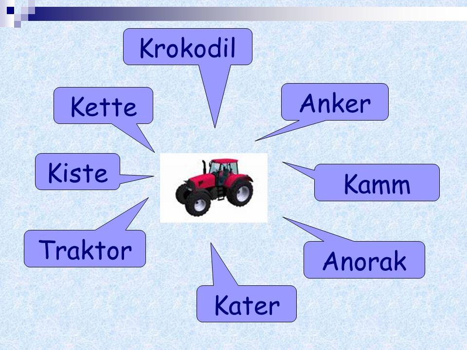 Anker Anorak Krokodil Kette Traktor Kater Kamm Kiste