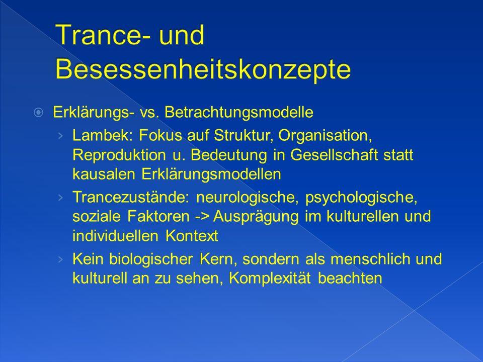 Erklärungs- vs. Betrachtungsmodelle Lambek: Fokus auf Struktur, Organisation, Reproduktion u.