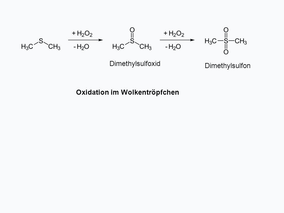 Oxidation im Wolkentröpfchen Dimethylsulfon Dimethylsulfoxid