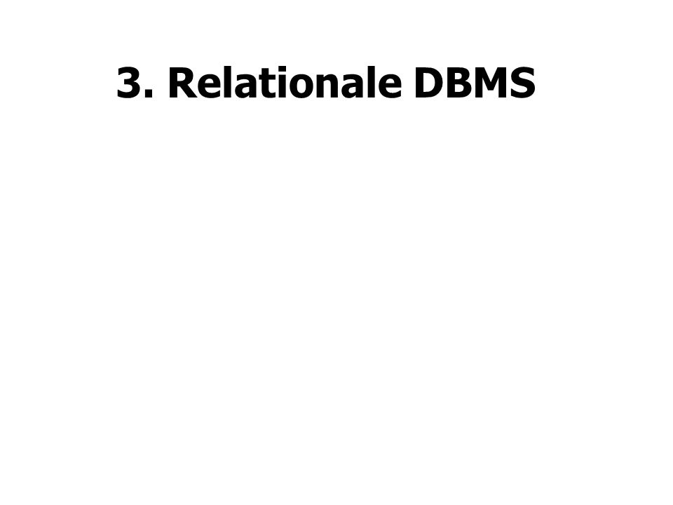 3. Relationale DBMS
