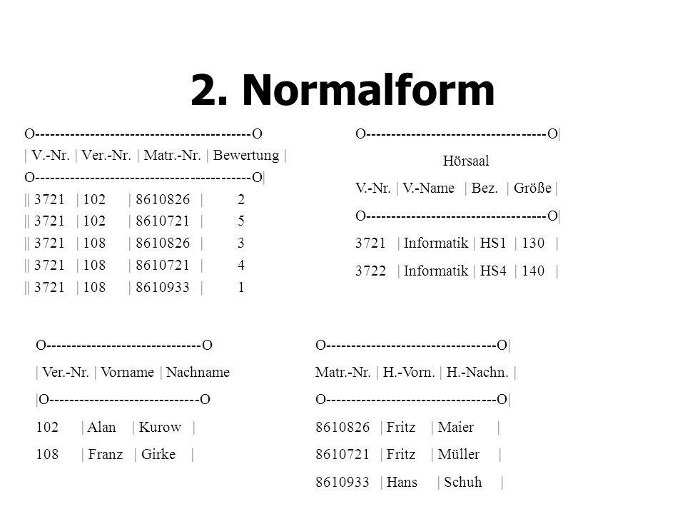 2.Normalform O-------------------------------------------O | V.-Nr.