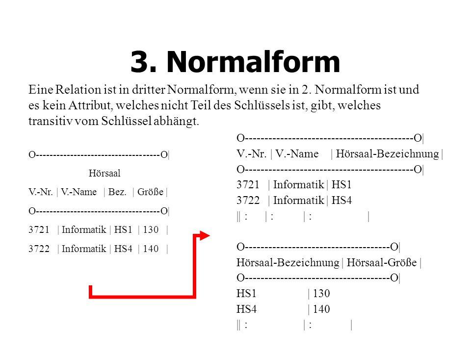 3.Normalform O-------------------------------------------O| V.-Nr.