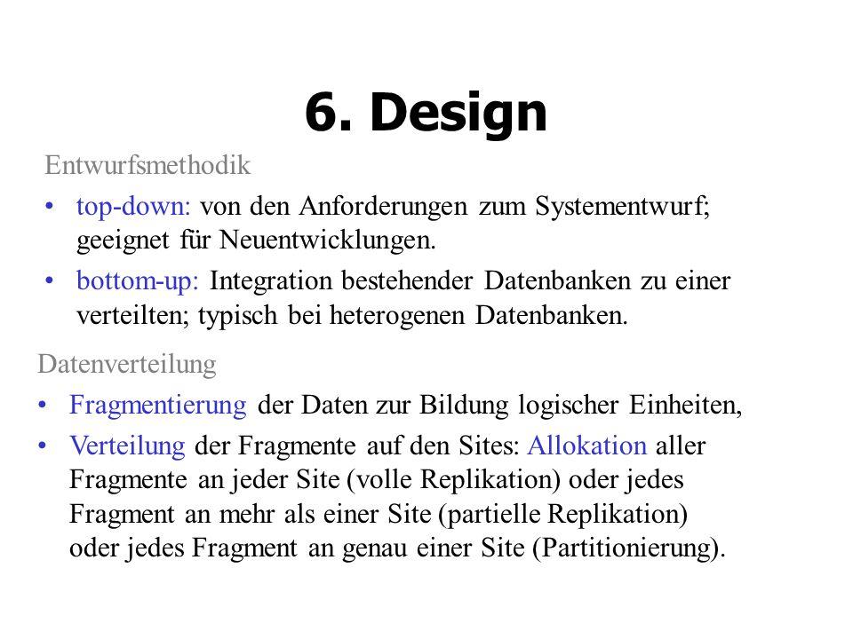 Entwurfsmethodik top-down: von den Anforderungen zum Systementwurf; geeignet für Neuentwicklungen.