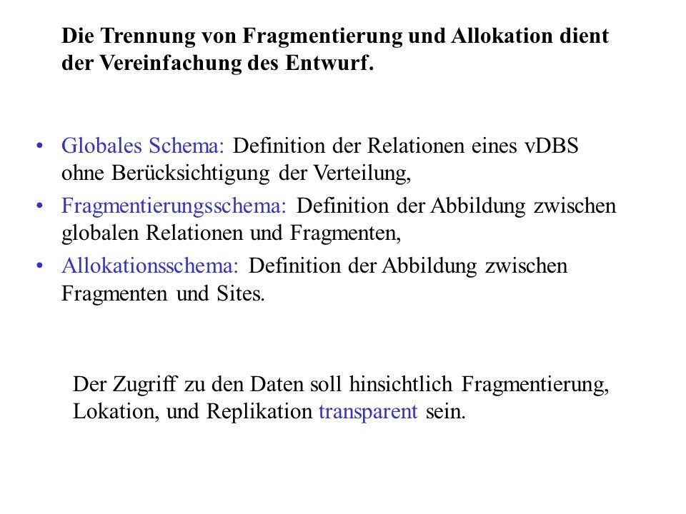 Die Trennung von Fragmentierung und Allokation dient der Vereinfachung des Entwurf.
