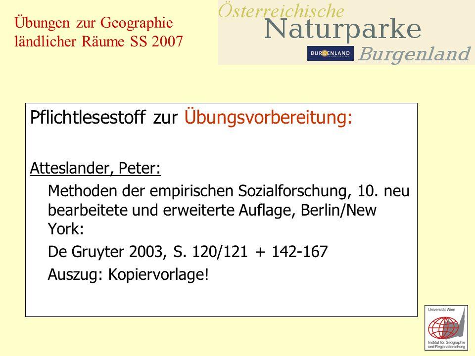 Übungen zur Geographie ländlicher Räume SS 2007 Erweiterter Lesestoff: Nachhaltige Innovationsfaktoren für Ländliche Räume Alpine Raumordnung Nr.
