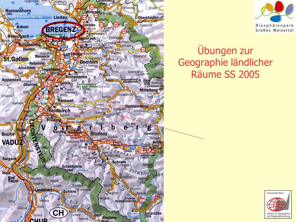 Übungen zur Geographie ländlicher Räume SS 2005