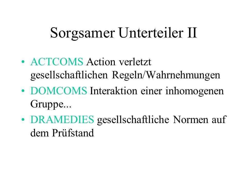 Sorgsamer Unterteiler II ACTCOMS Action verletzt gesellschaftlichen Regeln/Wahrnehmungen DOMCOMS Interaktion einer inhomogenen Gruppe...