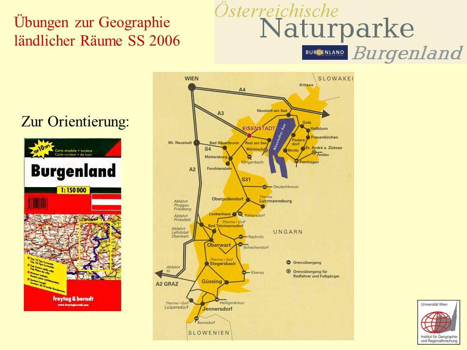 Übungen zur Geographie ländlicher Räume SS 2006 Zur Orientierung: