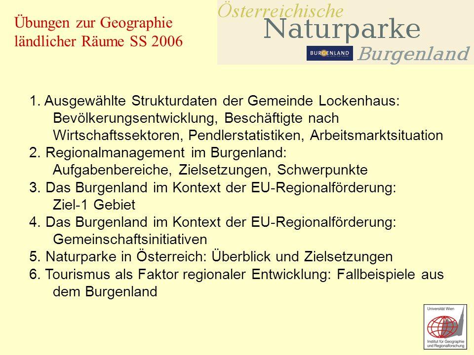 Übungen zur Geographie ländlicher Räume SS 2006 1.