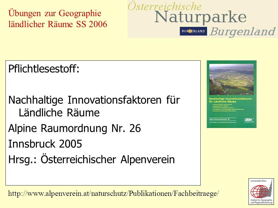 Übungen zur Geographie ländlicher Räume SS 2006 Pflichtlesestoff zur Übungsvorbereitung: Atteslander, Peter: Methoden der empirischen Sozialforschung, 10.