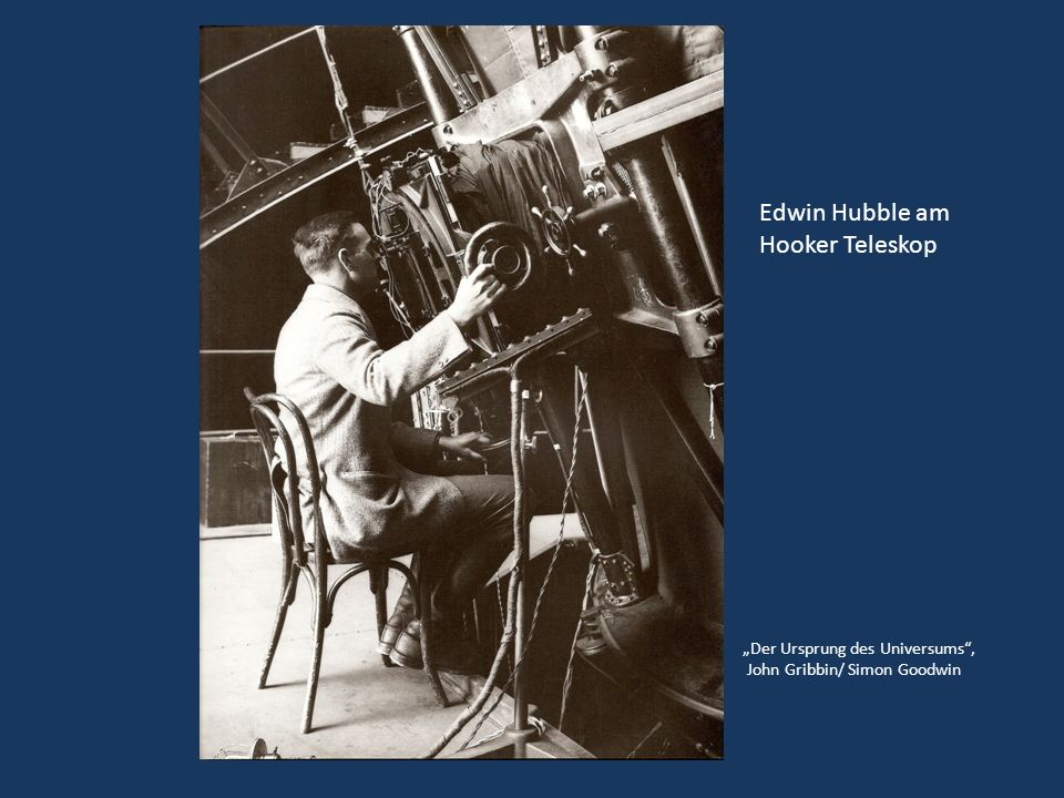 Der Ursprung des Universums, John Gribbin/ Simon Goodwin Edwin Hubble am Hooker Teleskop