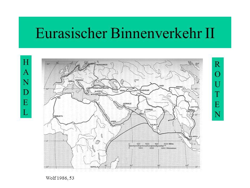 Eurasischer Binnenverkehr II HANDELHANDEL ROUTENROUTEN Wolf 1986, 53