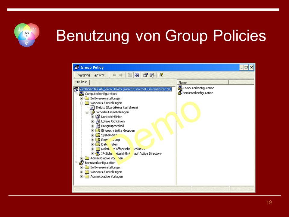 19 Benutzung von Group Policies Demo