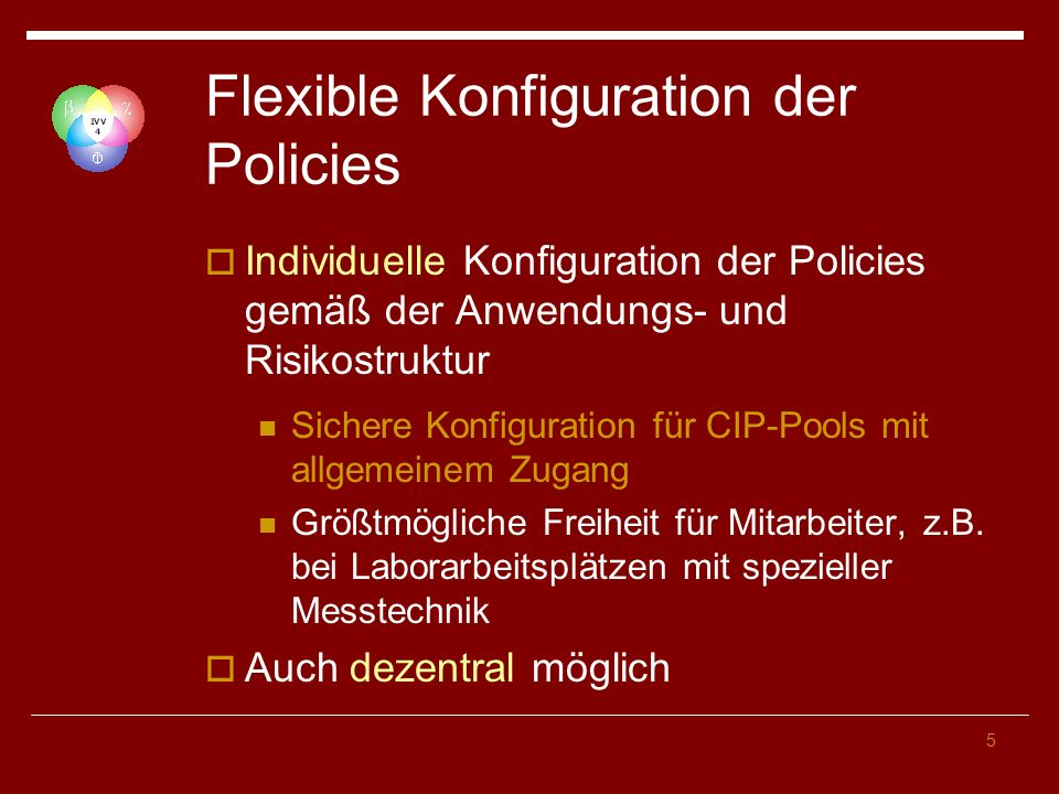 16 Anwendung von Policies Reihenfolge Lokale Konfiguration Site Policy Domänen Policy OU-Policy 1 OU-Policy 2 … OU-Policy N Last Policy wins