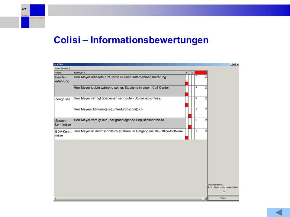 Colisi – Informationsbewertungen