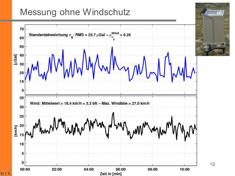 Messung ohne Windschutz 10
