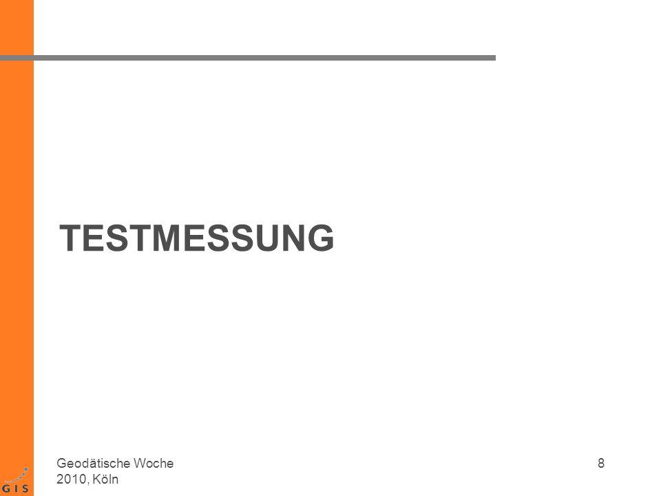 Testaufbau Messdauer: ~10 min pro Aufstellung Messfrequenz: 0.5 Hz = 2s 9