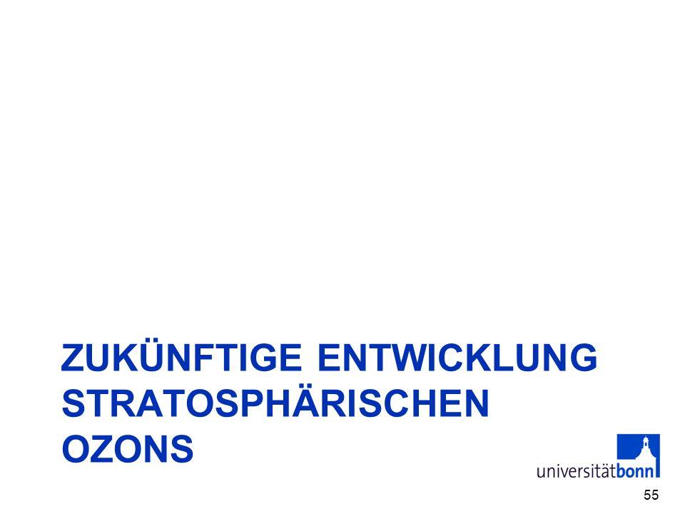 ZUKÜNFTIGE ENTWICKLUNG STRATOSPHÄRISCHEN OZONS 55