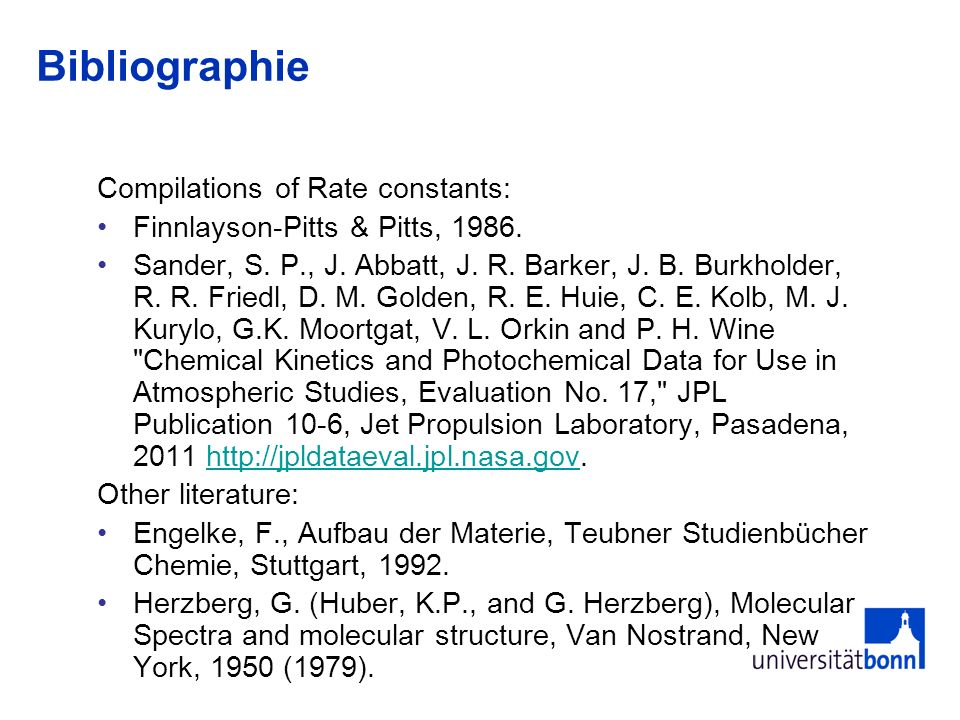 Bibliography A few key papers (incomplete listing): Haagen-Smit, A.J., Chemistry and physiology of Los Angeles Smog, Industrial and Engineering Chemistry, 44(6), 1952.