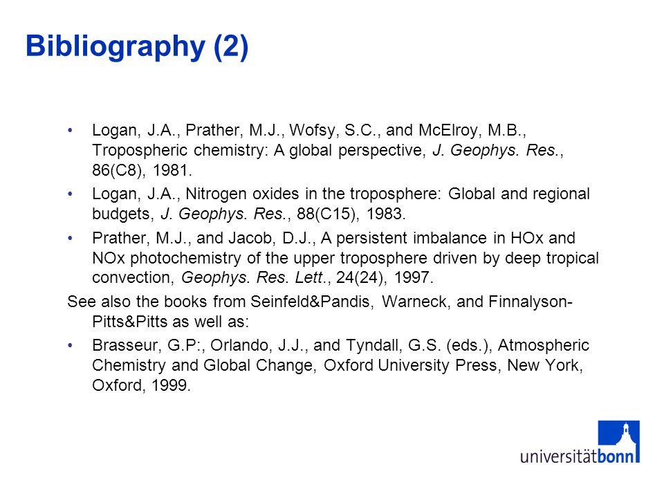 Bibliography (3) Wesely, M.L., B.B.