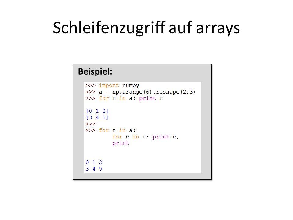 Beispiel: Schleifenzugriff auf arrays