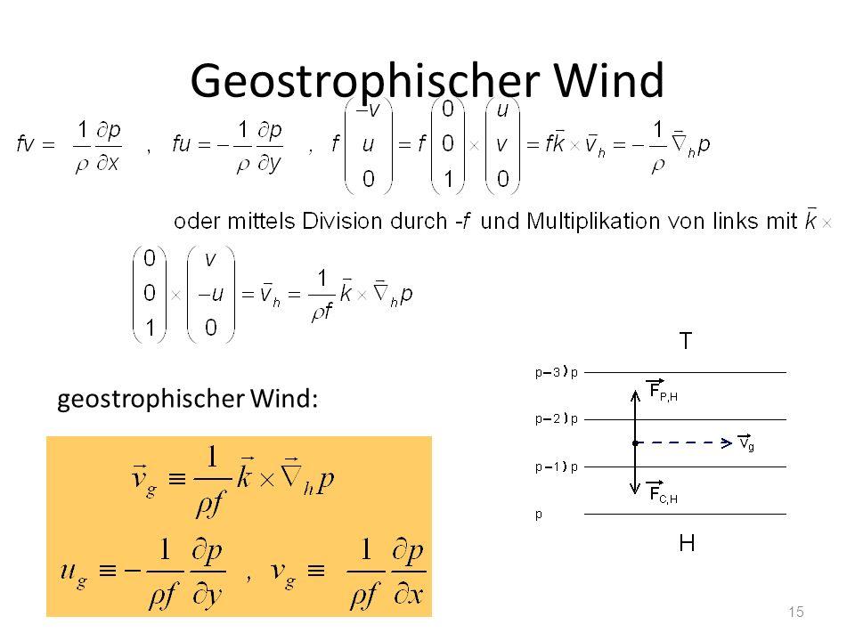 15 Geostrophischer Wind geostrophischer Wind: