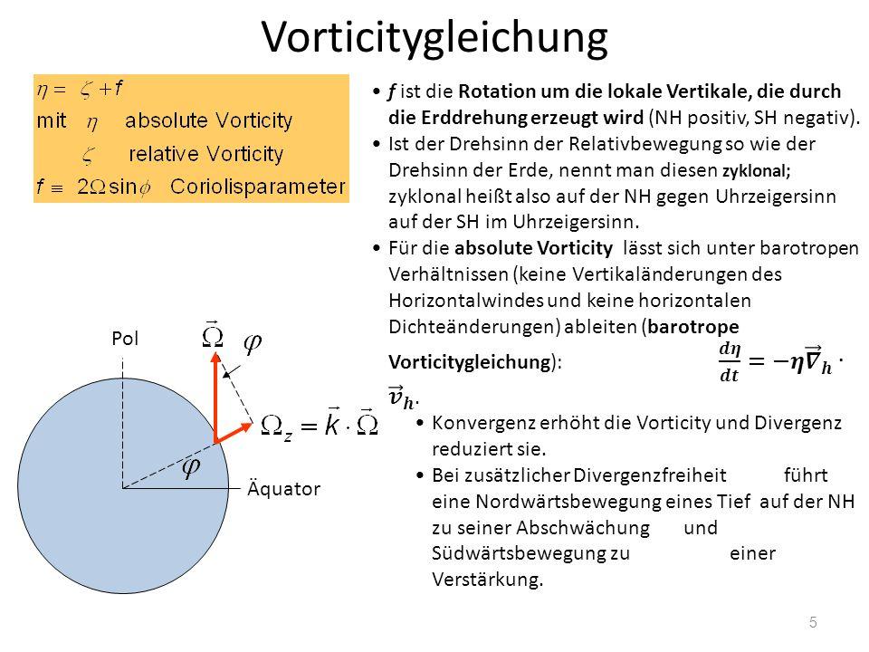 26 Barotrope und barokline Felder barotrop:Isoflächen von Druck und Temperatur sind parallel zueinander geostrophischer Wind mit der Höhe konstant baroklin:Isoflächen von Druck und Temperatur sind gegeneinander geneigt geostrophischer Wind ändert sich mit der Höhe