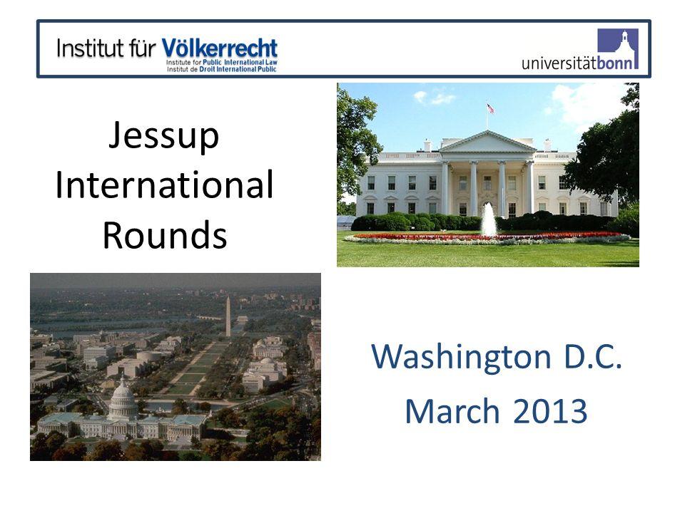 2012/2013 JESSUP TOPIC