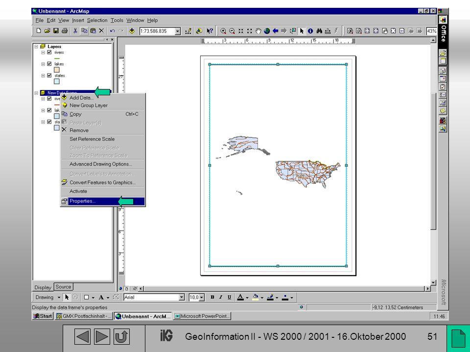 GeoInformation II - WS 2000 / 2001 - 16.Oktober 200051
