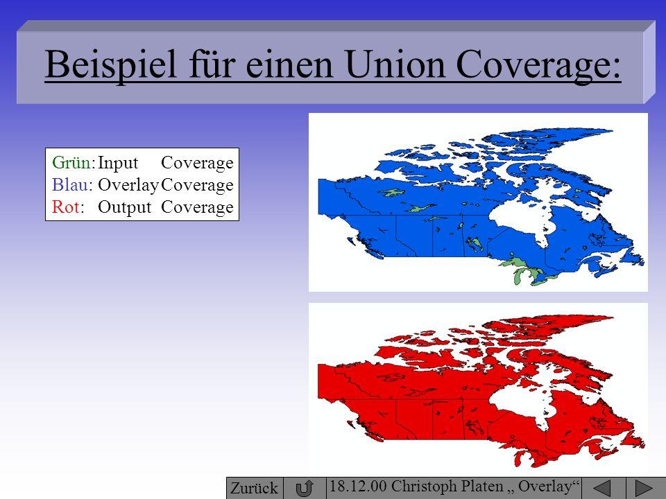 Beispiel für einen Union Coverage: 18.12.00 Christoph Platen Overlay Grün: Blau: Rot: Input Overlay Output Coverage Zurück