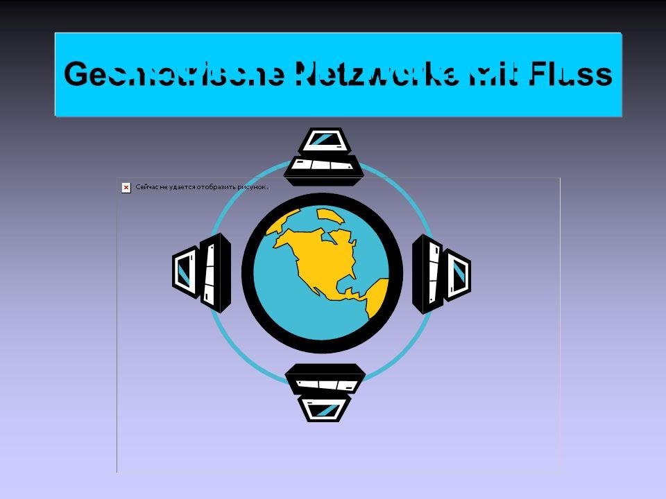 Geometrische Netzwerke mit Fluss Geoinformation II