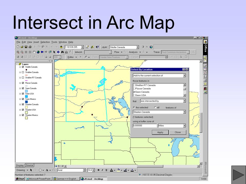 Intersect in Arc Map