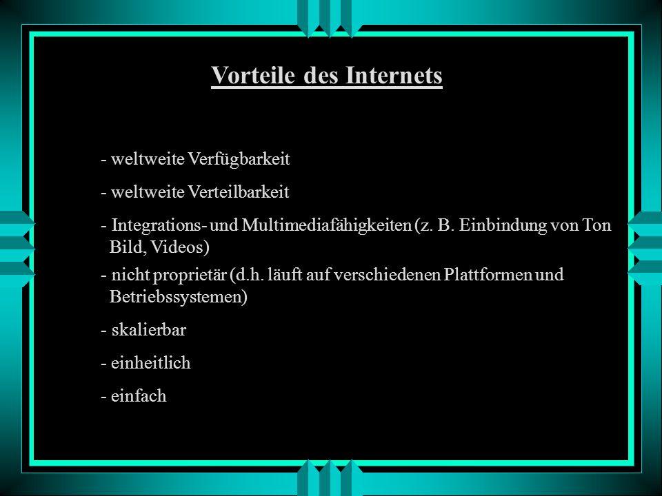 Die Internet-Philosphie - Informationen sind grundsätzlich allen zugänglich. - Marktorientiertes Verhältnis zwischen Informationsanbietern und -abnehm
