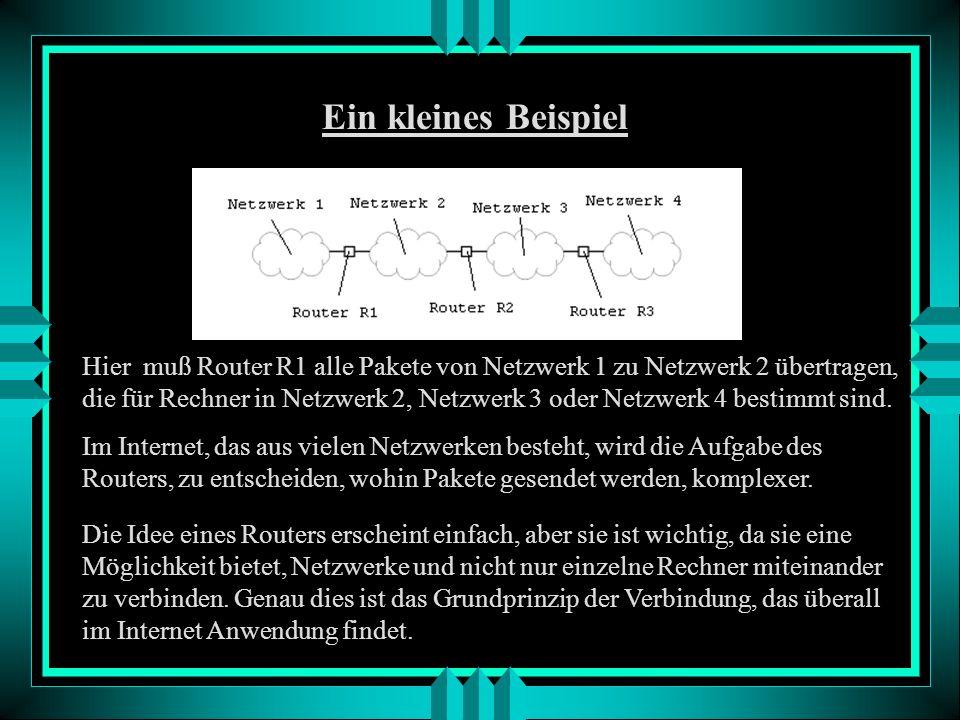 - über standardisierte Protokolle können verschiedene Anwendungen betrieben werden (z.B. eMail, WWW, FTP) Grundlagen - Internet ist ein Netz von Netze