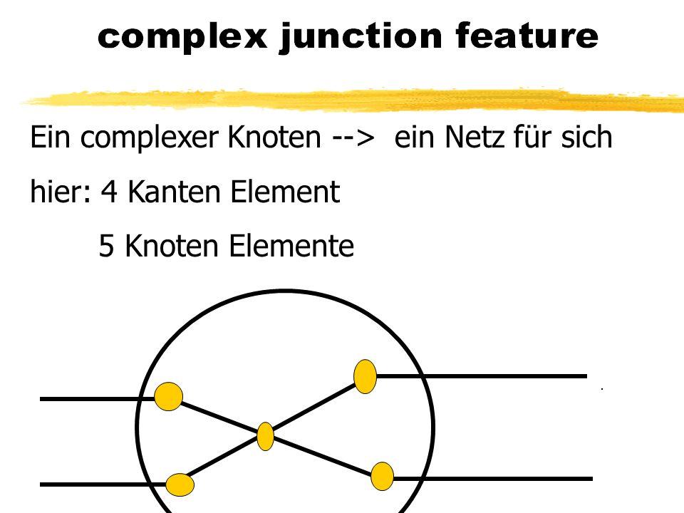 Ein complexer Knoten --> ein Netz für sich hier: 4 Kanten Element 5 Knoten Elemente