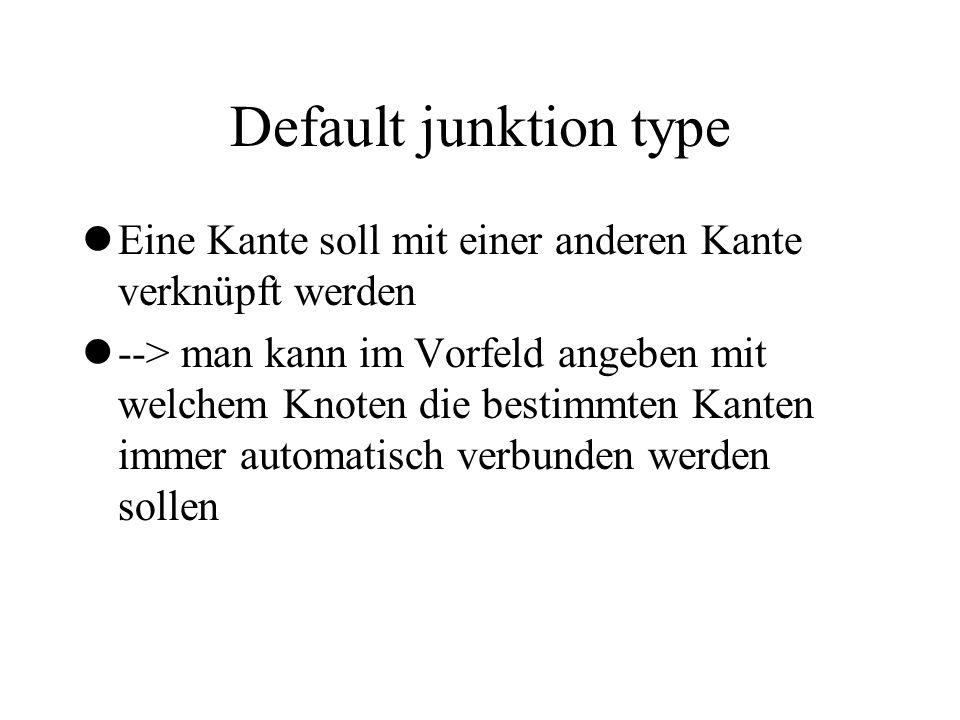 Default junktion type lEine Kante soll mit einer anderen Kante verknüpft werden l--> man kann im Vorfeld angeben mit welchem Knoten die bestimmten Kan