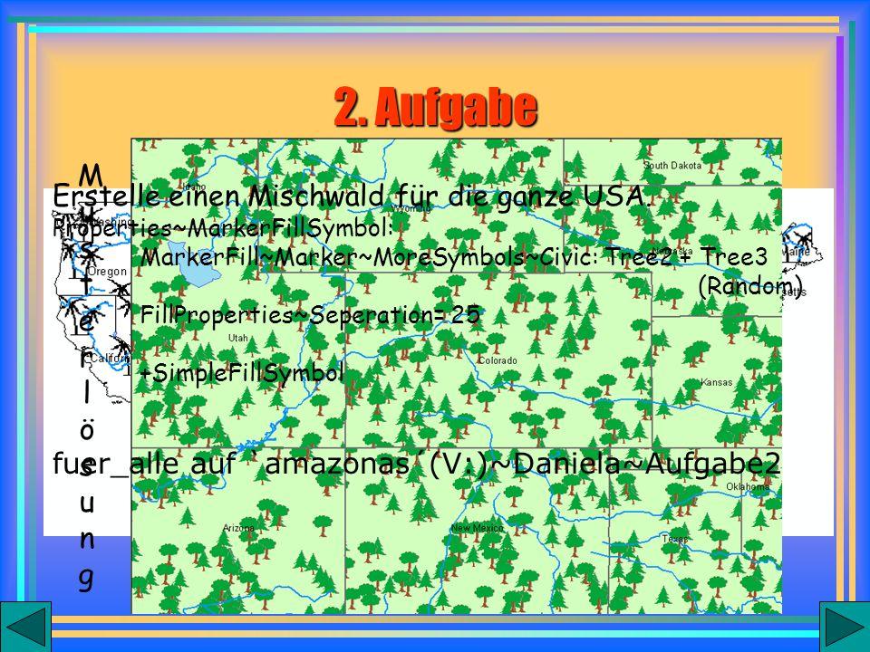 Erstelle einen Mischwald für die ganze USA.