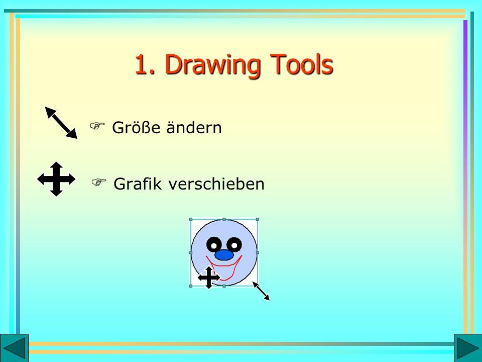 Grafik verschieben Größe ändern 1. Drawing Tools