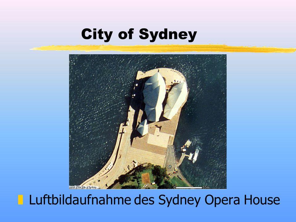 City of Sydney zLuftbildaufnahme des Sydney Opera House