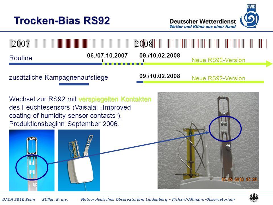 DACH 2010 Bonn Stiller, B. u.a. Meteorologisches Observatorium Lindenberg – Richard-Aßmann-Observatorium Trocken-Bias RS92 verspiegelten Kontakten Rou