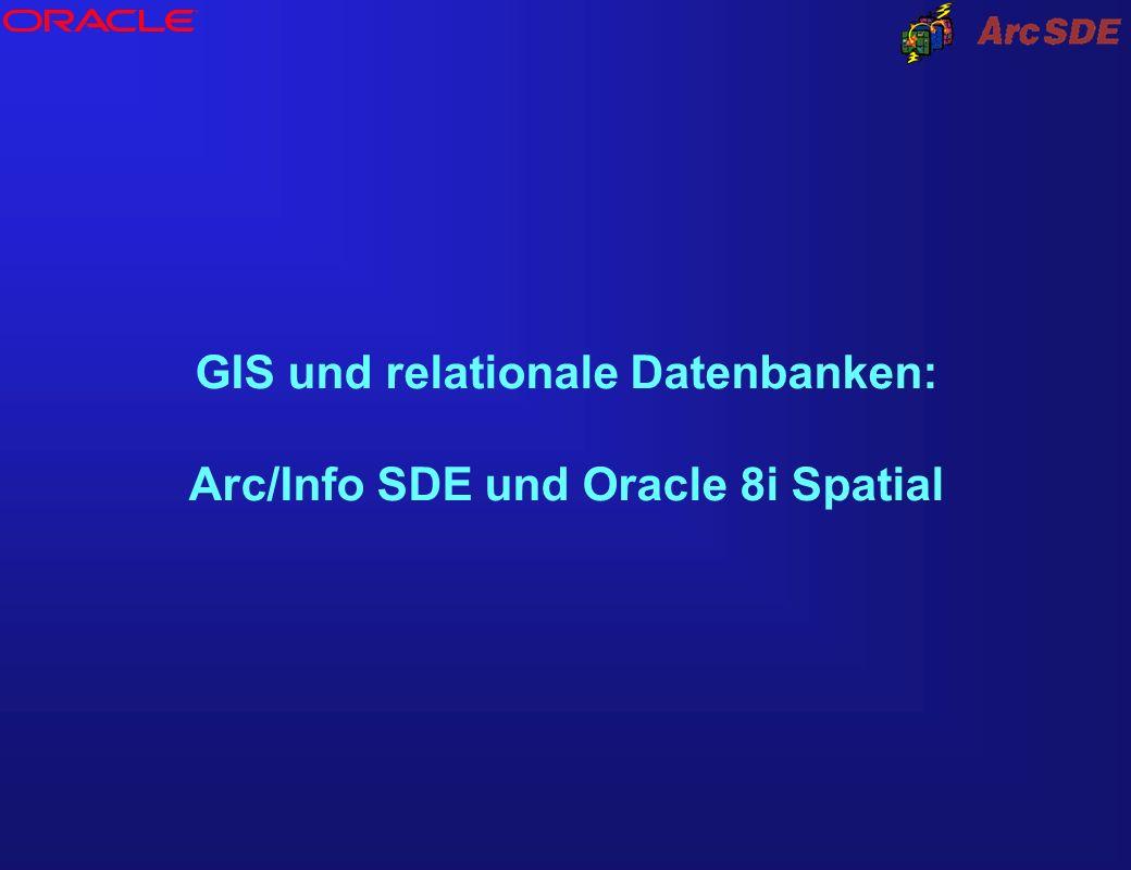 ® GIS und relationale Datenbanken: Arc/Info SDE und Oracle 8i Spatial