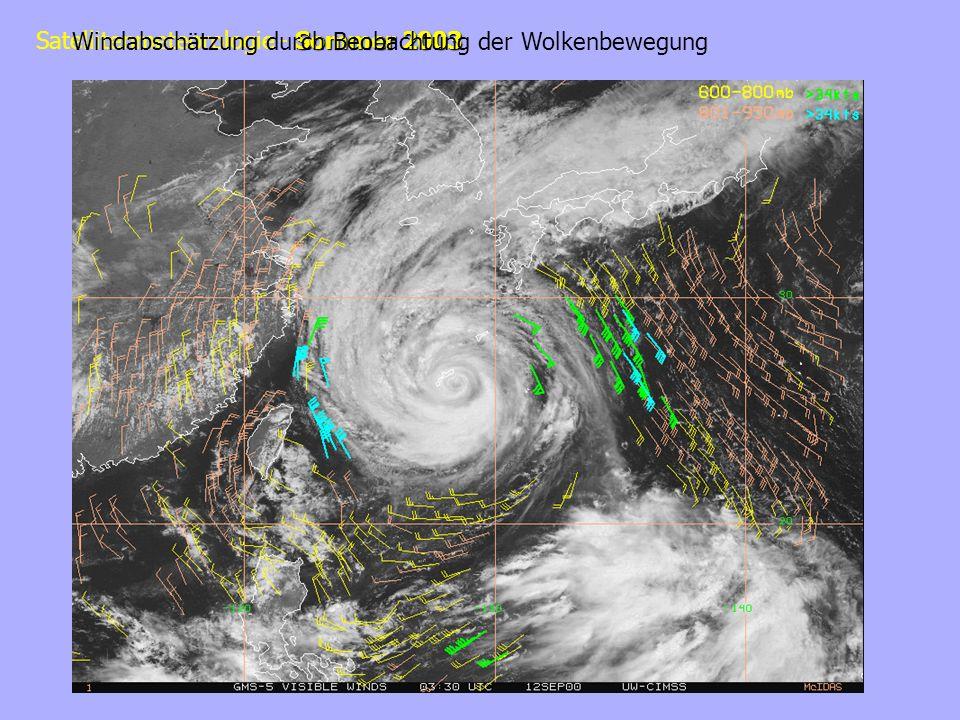 Windabschätzung durch Beobachtung der Wolkenbewegung