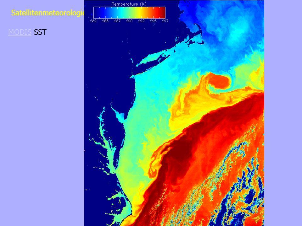 Sommer 2003 Satellitenmeteorologie - Sommer 2003 MODISMODIS SST