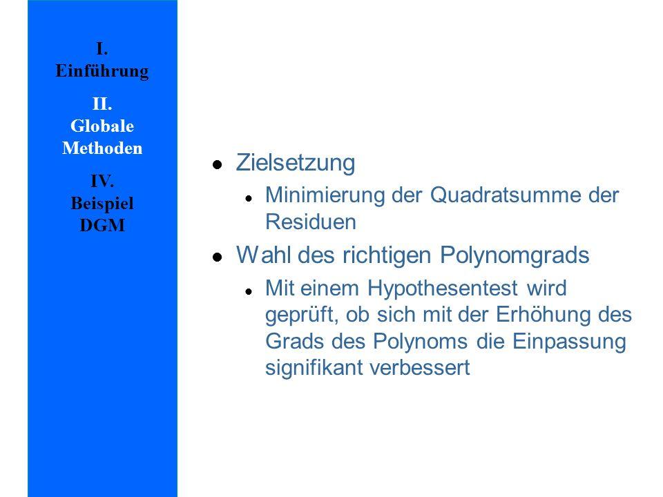 I.Einführung II. Globale Methoden IV.