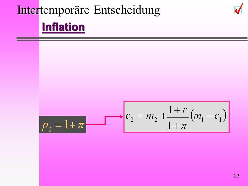 23 Intertemporäre Entscheidung Inflation