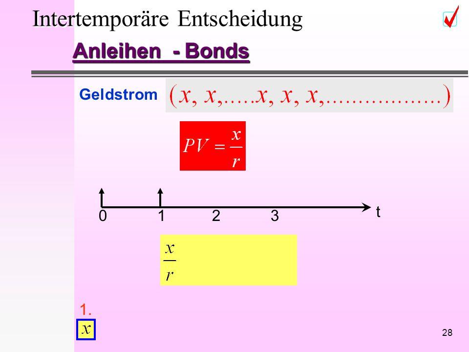 28 Intertemporäre Entscheidung Anleihen - Bonds Geldstrom 1. 0213 t