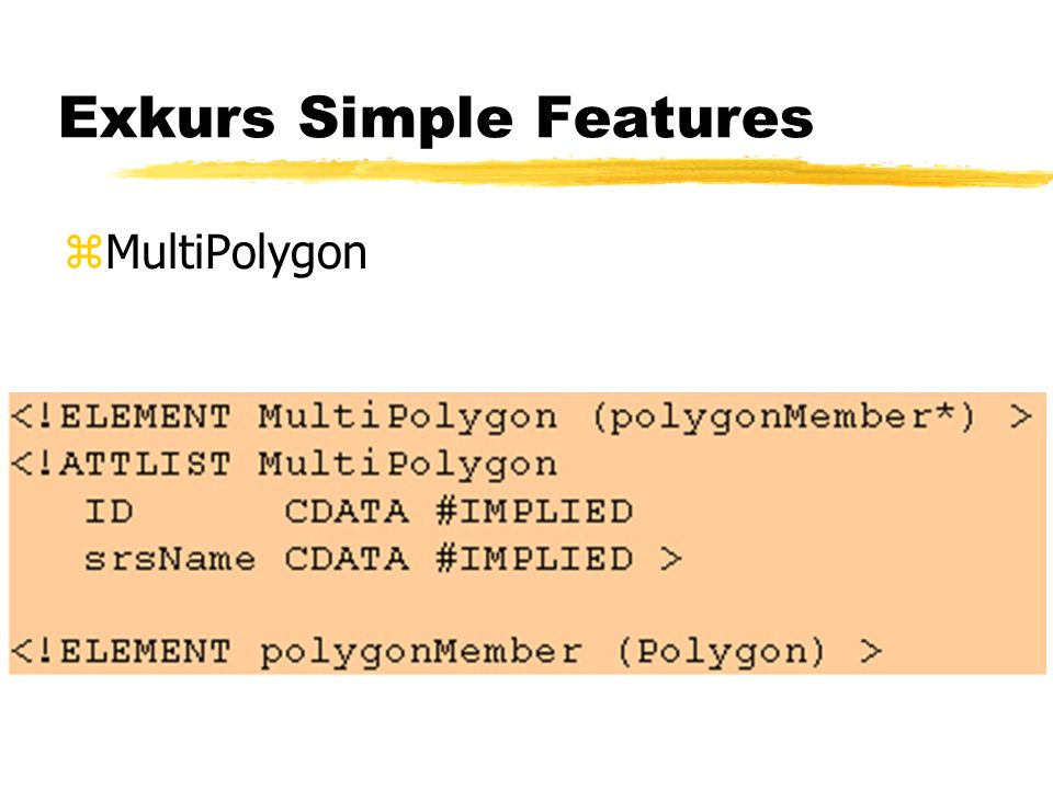 Exkurs Simple Features zMultiPolygon