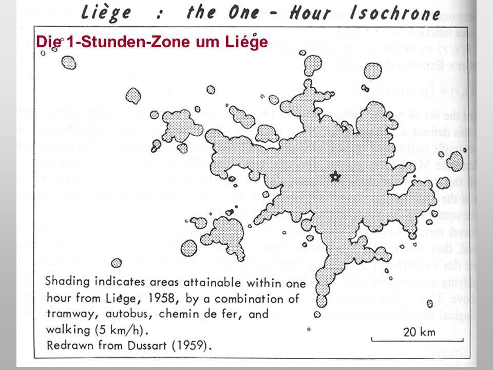 Lutz Plümer - Geoinformation - 1./5. Semester - WS 00/01 - Vorlesung 418 Die Fahrtzeittopologie Gegeben sei ein Gebiet, das durch ein Verkehrsnetz ers